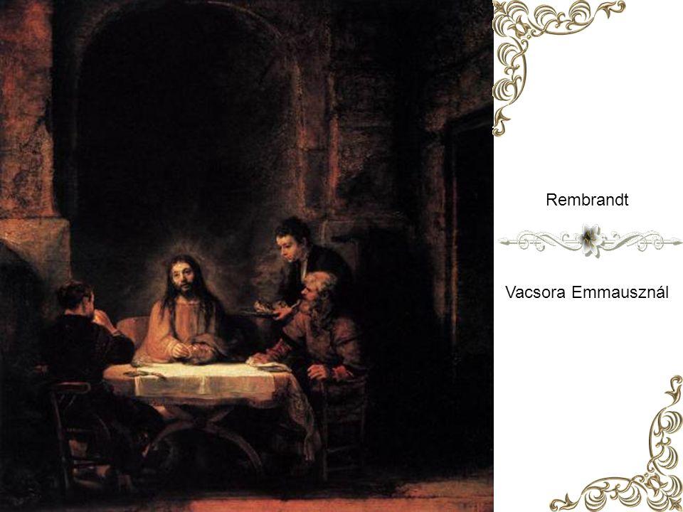 Caravaggio: Vacsora Emmauszban