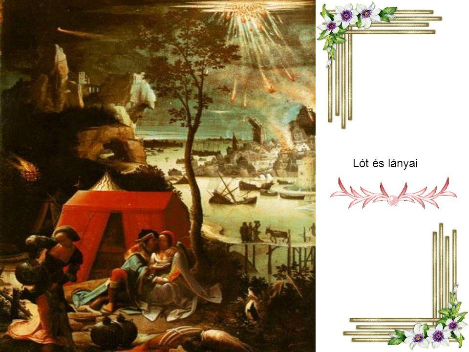 Albrecht Dürer Lót a lányaival menekül Szodomából