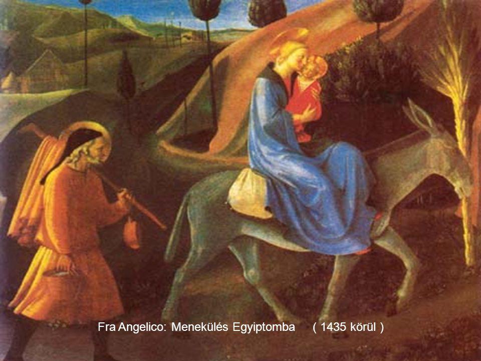 Giotto di Bondone Menekülé Egyiptomba ( részlet )