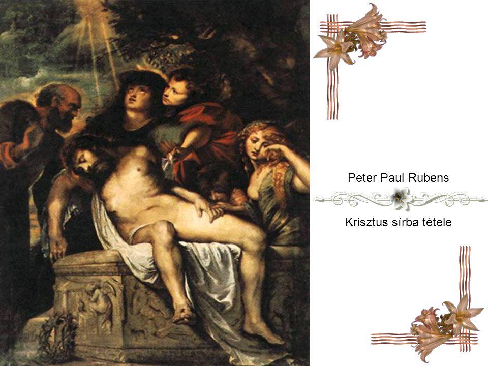 Hans Hemling Jézus temetése ( részlet )