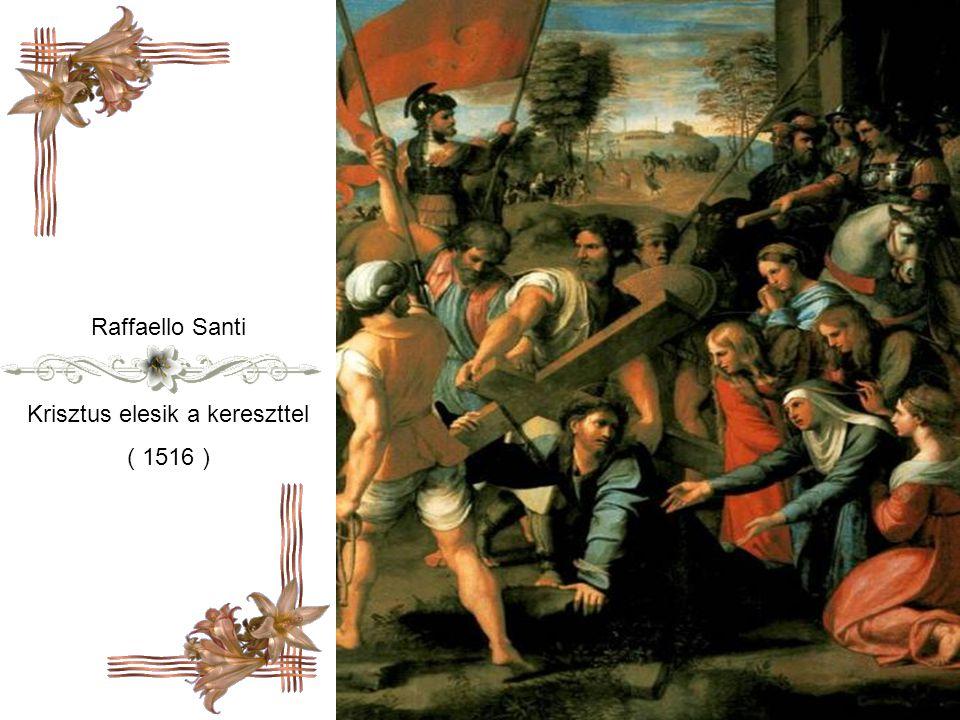 Jan Sanders van Hemessen A kereszt vivő Krisztus ( 1553 )