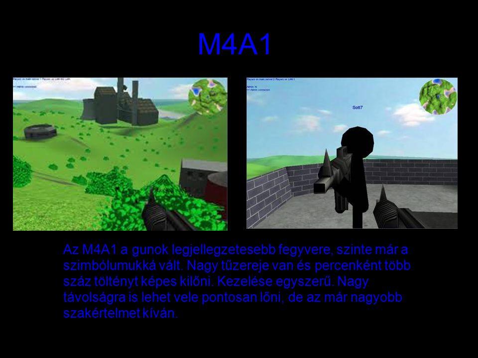 M4A1 Az M4A1 a gunok legjellegzetesebb fegyvere, szinte már a szimbólumukká vált. Nagy tűzereje van és percenként több száz töltényt képes kilőni. Kez