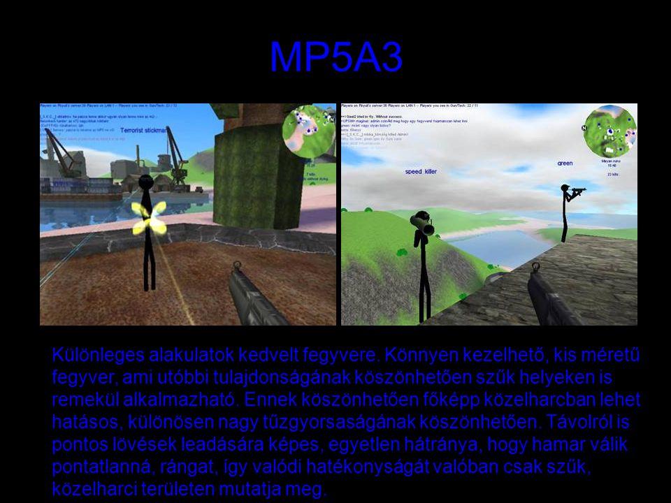 MP5A3 Különleges alakulatok kedvelt fegyvere.