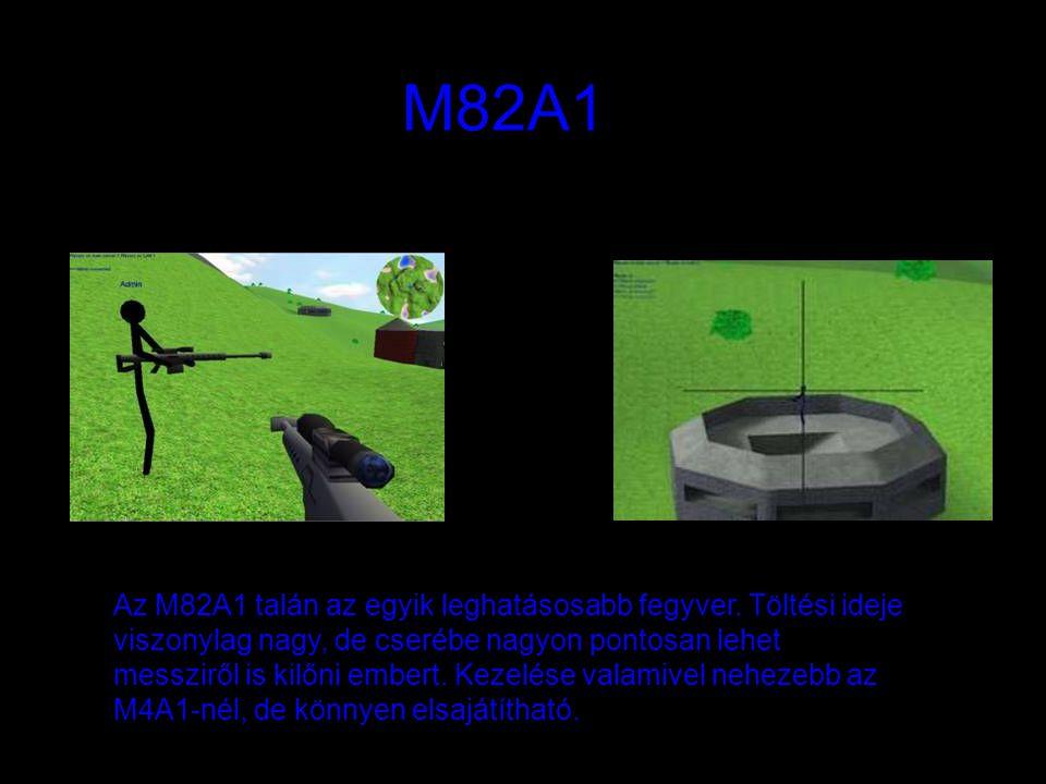 M82A1 Az M82A1 talán az egyik leghatásosabb fegyver. Töltési ideje viszonylag nagy, de cserébe nagyon pontosan lehet messziről is kilőni embert. Kezel