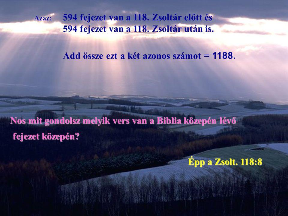 Azaz: 594 fejezet van a 118.Zsoltár előtt és 594 fejezet van a 118.