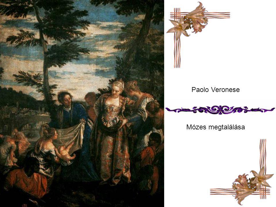 Claude Loran Tájkép a vízből mentett Mózessel