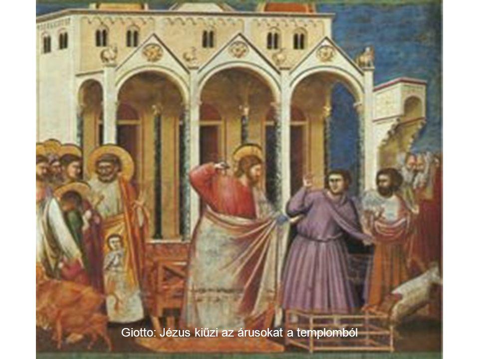 Krisztus bevonulása Jeruzsálembe ( Krétai festő műve 1600 körül )