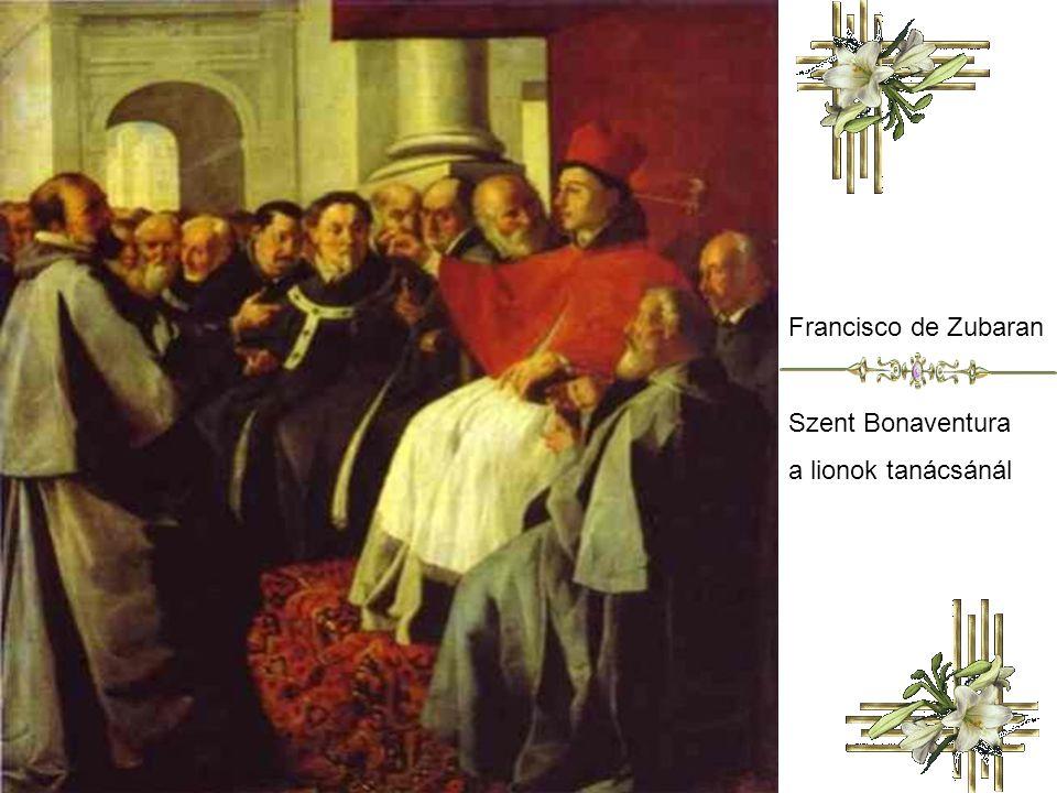 Francisco de Zubaran Szent Bonaventura a lionok tanácsánál
