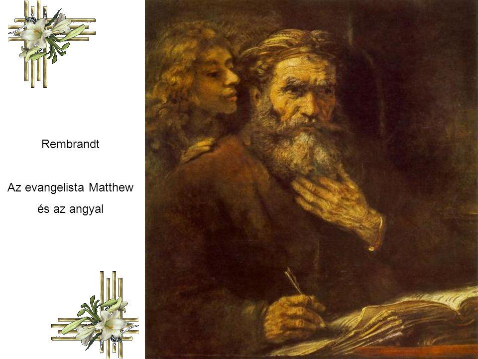 Rembrandt Az evangelista Matthew és az angyal