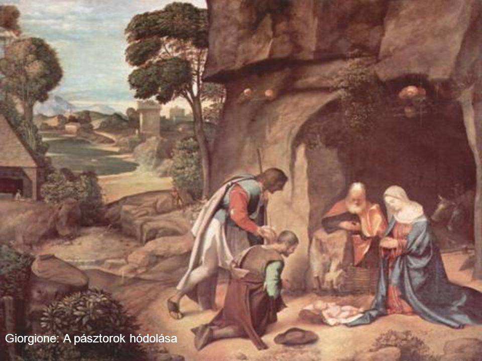 Giorgione: A pásztorok hódolása