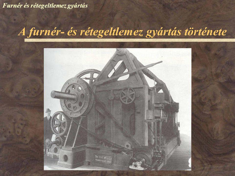 Furnér és rétegeltlemez gyártás 1858 – Szeged: gyufagyártás (hámozott furnérból) 1910 – Rákospalota: Furnér- és Lemezművek (FURLEM) – műszaki furnérgyártás 1912 – FURLEM: rétegelt lemez 1942 – Szeged: rétegeltlemez gyártás 1946 – hét hazai üzem 1950 – négy üzem maradt 1962 – Budapesti Falemezművek (BUFA) – (Háros + Furlem + Bútorlapüzem) A rétegeltlemez gyártás hazai története