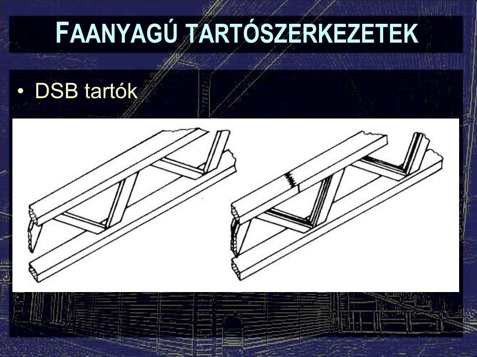 F AANYAGÚ TARTÓSZERKEZETEK DSB tartók