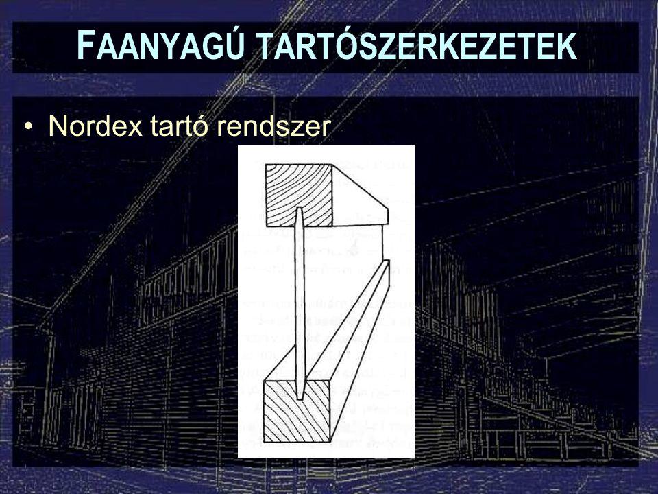 F AANYAGÚ TARTÓSZERKEZETEK Nordex tartó rendszer