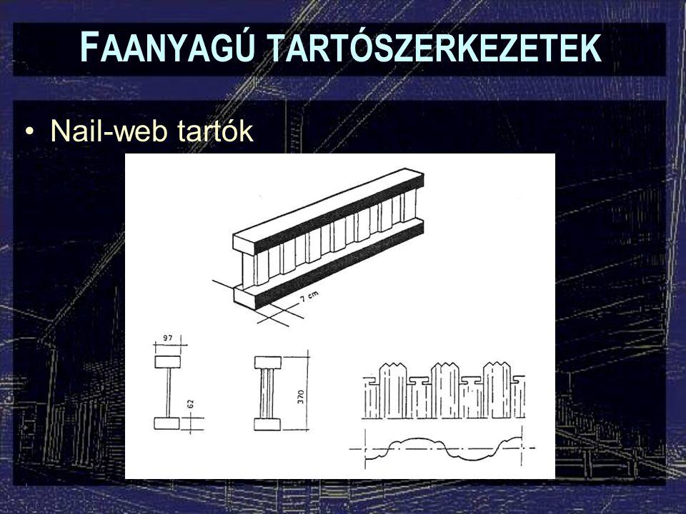 F AANYAGÚ TARTÓSZERKEZETEK Nail-web tartók