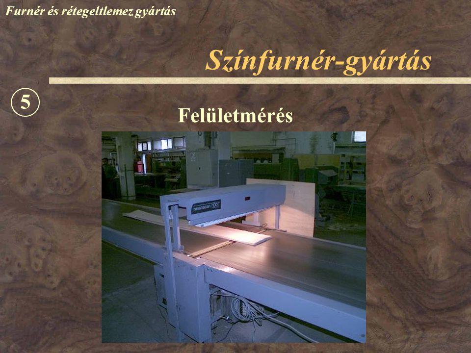 Színfurnér-gyártás Furnér és rétegeltlemez gyártás Felületmérés 5