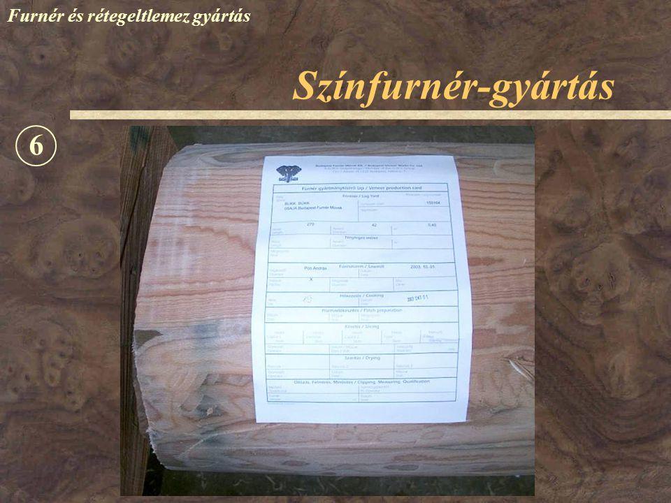 Színfurnér-gyártás Furnér és rétegeltlemez gyártás 6