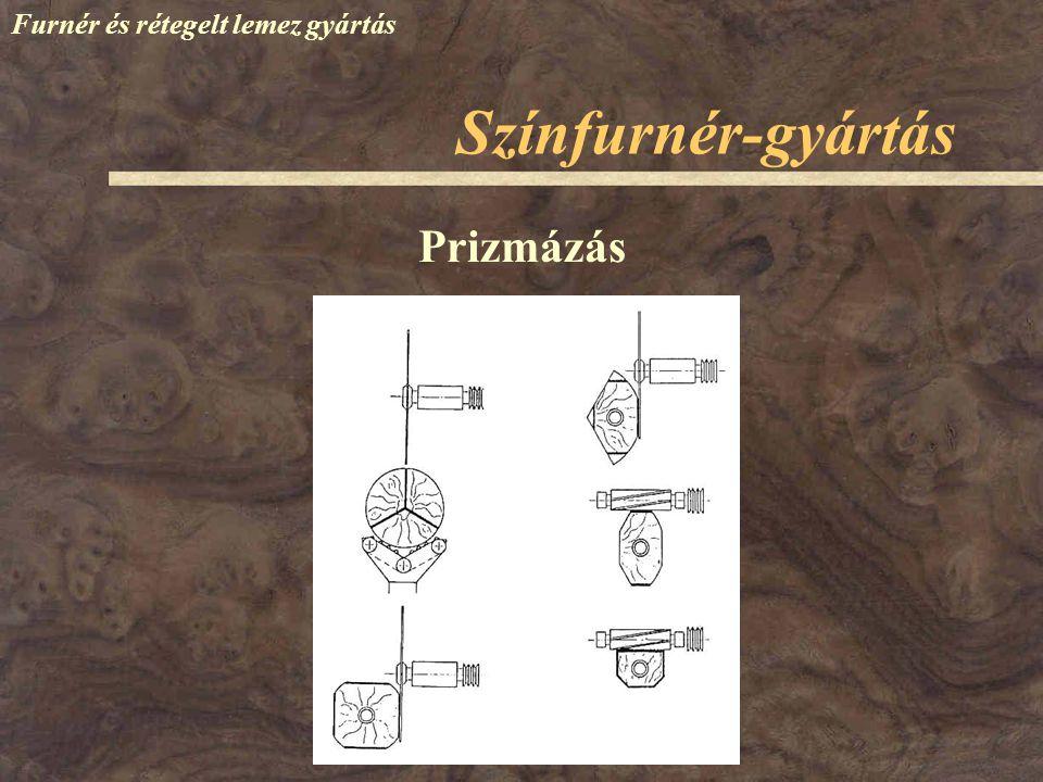 Színfurnér-gyártás Furnér és rétegelt lemez gyártás Prizmázás