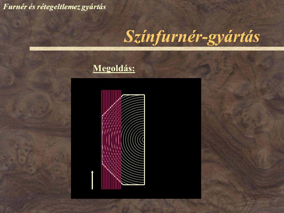 Színfurnér-gyártás Furnér és rétegeltlemez gyártás Megoldás: