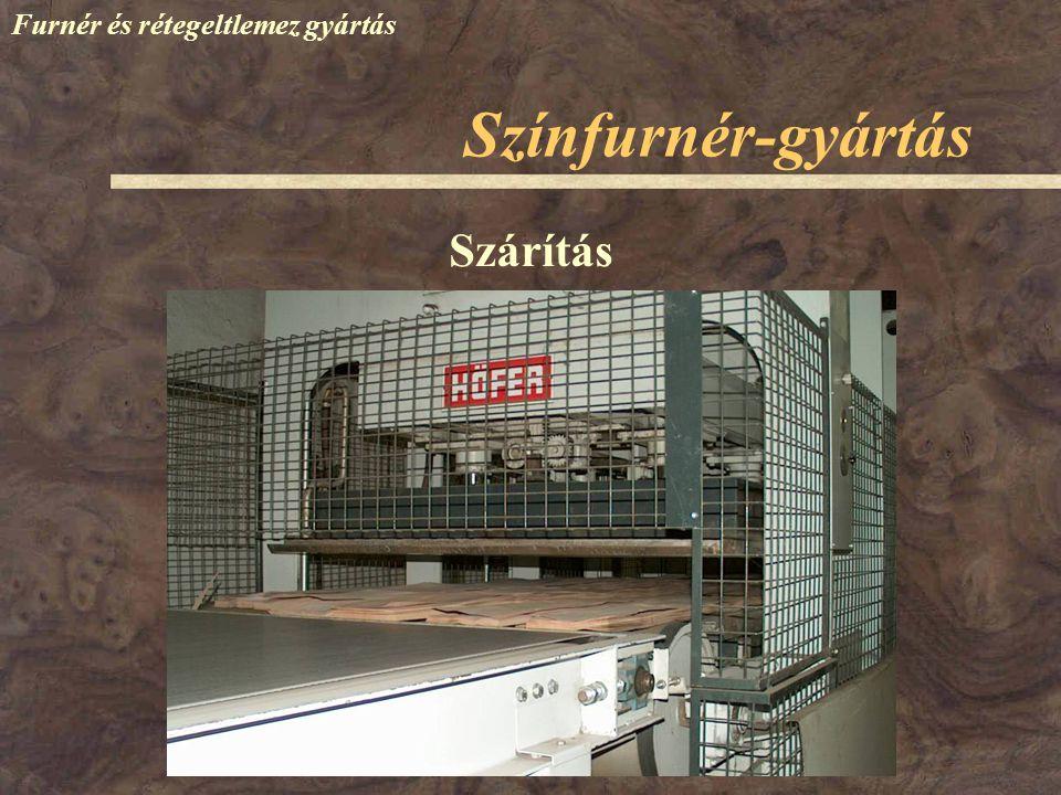 Színfurnér-gyártás Furnér és rétegeltlemez gyártás Szárítás