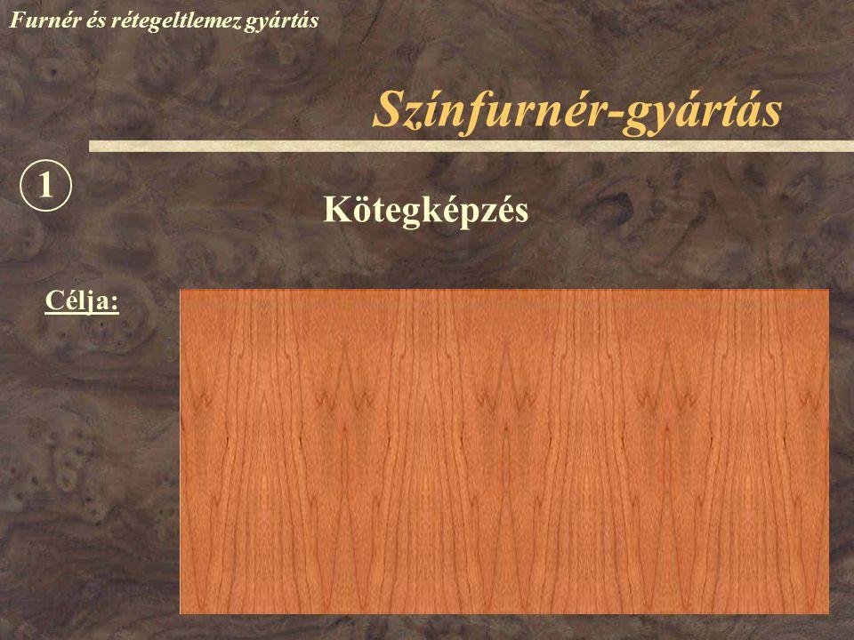 Színfurnér-gyártás Furnér és rétegeltlemez gyártás Célja: Kötegképzés 1