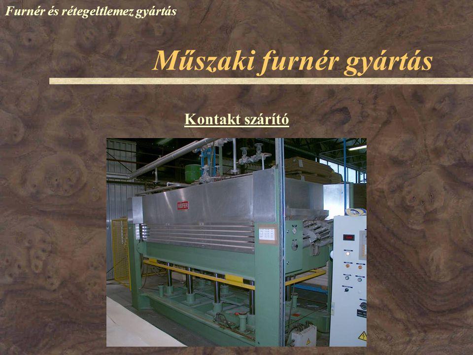 Műszaki furnér gyártás Furnér és rétegeltlemez gyártás Rakatképzés Élmegmunkálás, -ragasztás Ragasztóanyag felhordás Szárítás A vasalószárítók előnyei: