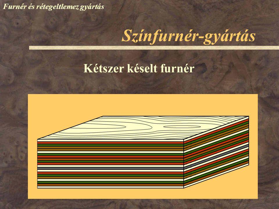 Színfurnér-gyártás Furnér és rétegeltlemez gyártás Kétszer késelt furnér