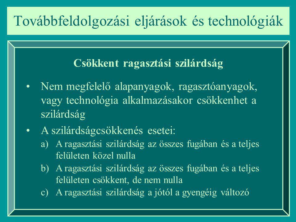 Továbbfeldolgozási eljárások és technológiák Egészségügyi követelmények 1.