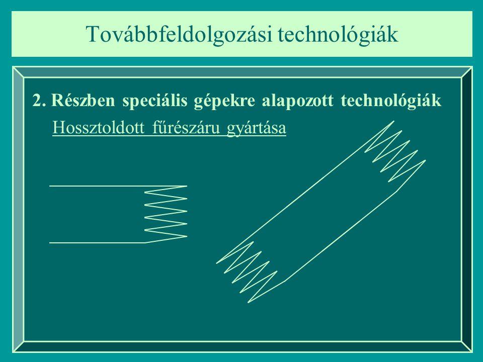 Továbbfeldolgozási technológiák 2.