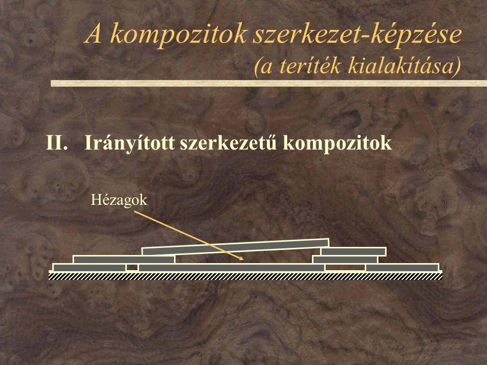 A kompozitok szerkezet-képzése (a teríték kialakítása) II. Irányított szerkezetű kompozitok Hézagok