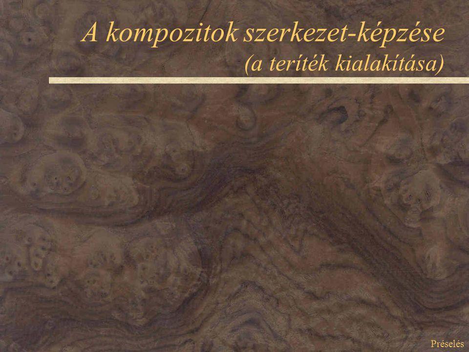 A kompozitok szerkezet-képzése (a teríték kialakítása) Préselés