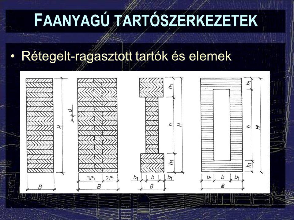 F AANYAGÚ TARTÓSZERKEZETEK Beforgatott szelvényű tartók és elemek (Kreuzbalken, Kreuzholz) –Induo-rendszer: I-tartók