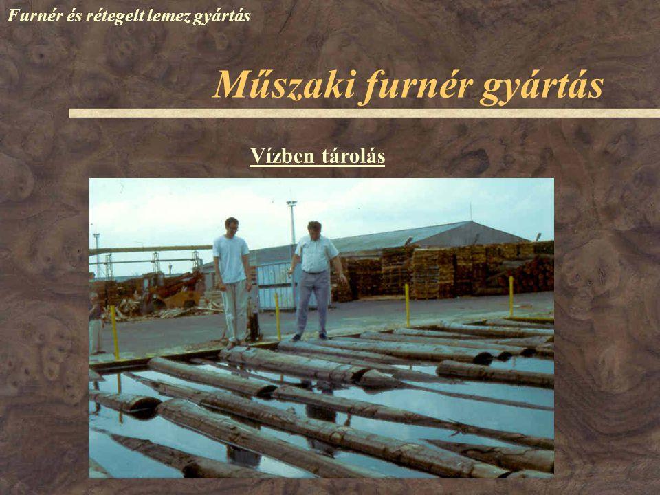 Műszaki furnér gyártás Furnér és rétegelt lemez gyártás Vízben tárolás