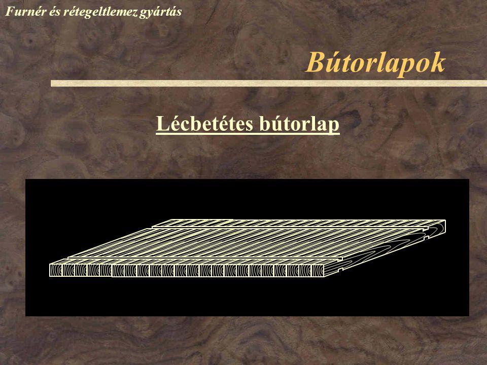 Bútorlapok Furnér és rétegeltlemez gyártás Lécbetétes bútorlap