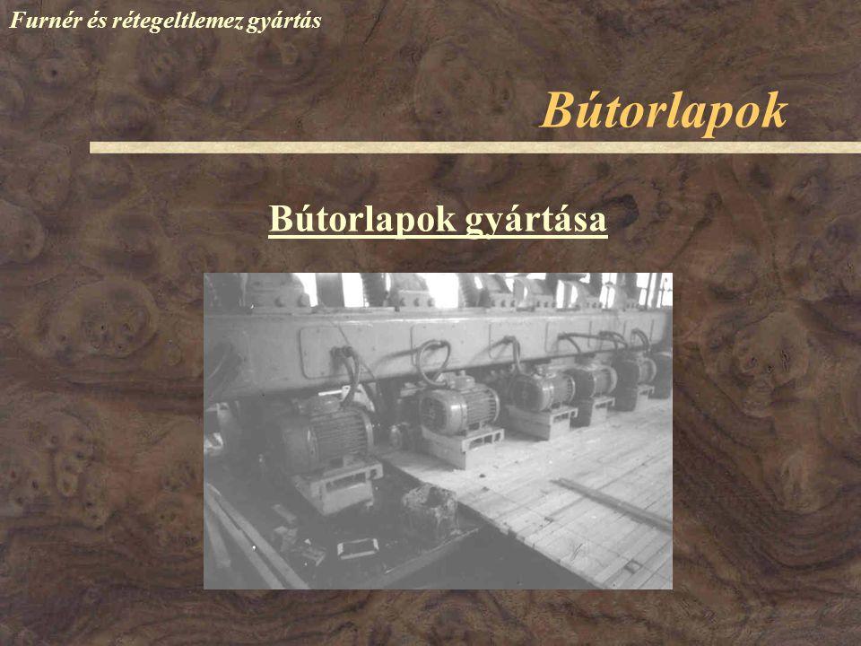 Furnér és rétegeltlemez gyártás Bútorlapok gyártása Bútorlapok