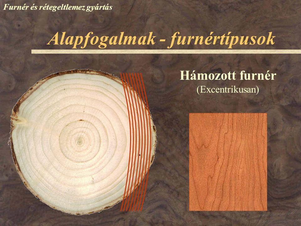Alapfogalmak - termékek Furnér és rétegeltlemez gyártás Furnérbetétes bútorlap