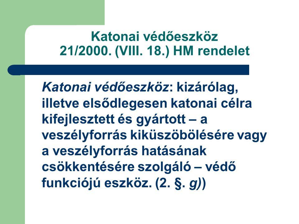 Katonai védőeszköz 21/2000.(VIII.