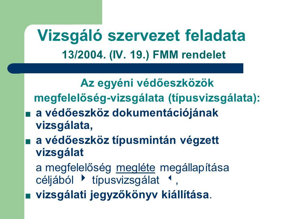 Vizsgáló szervezet feladata 13/2004.(IV.