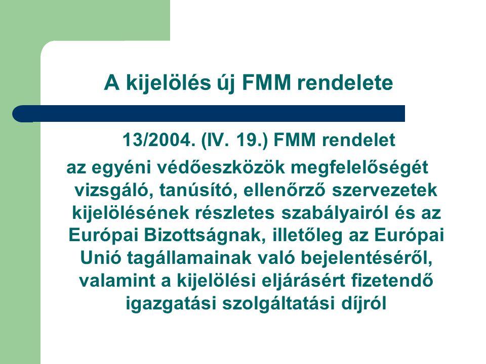 A kijelölés új FMM rendelete 13/2004.(IV.