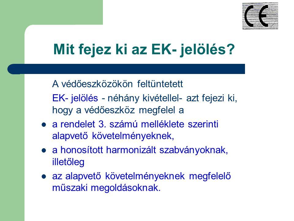Mit fejez ki az EK- jelölés.