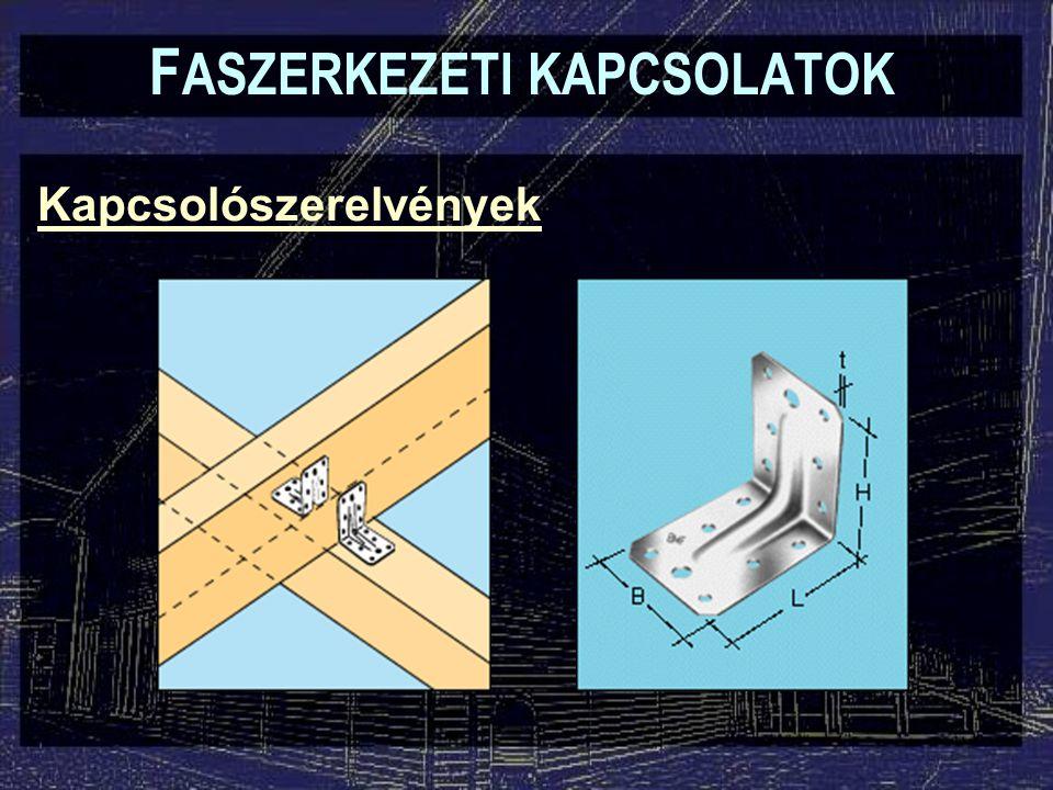 Kapcsolószerelvények F ASZERKEZETI KAPCSOLATOK