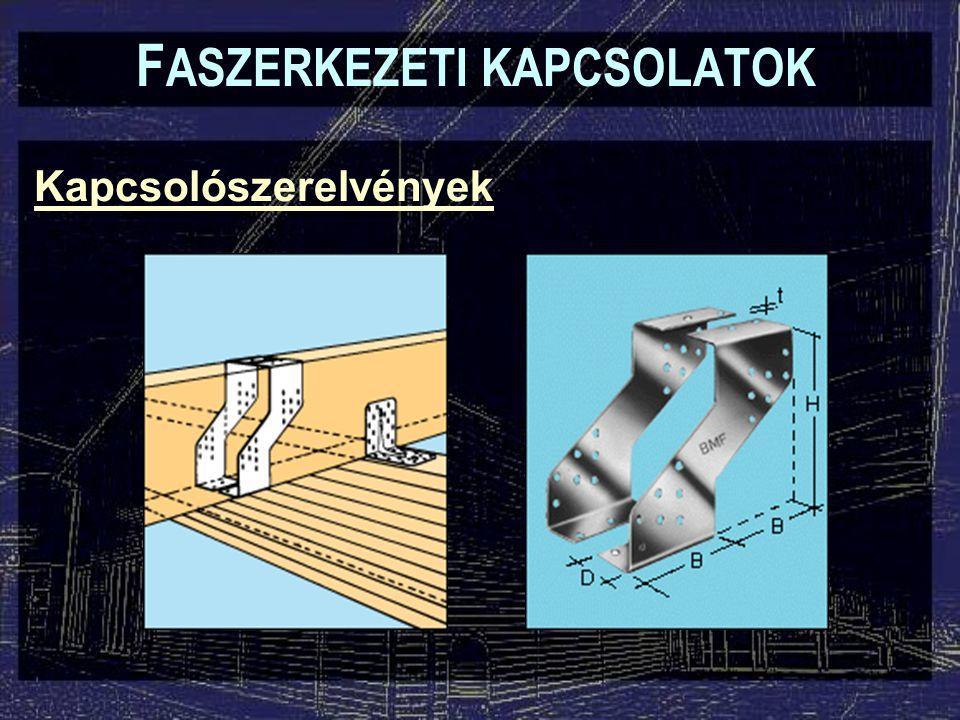 Kapcsolószerelvények F ASZERKEZETI KAPCSOLATOK Konzolok rögzítése