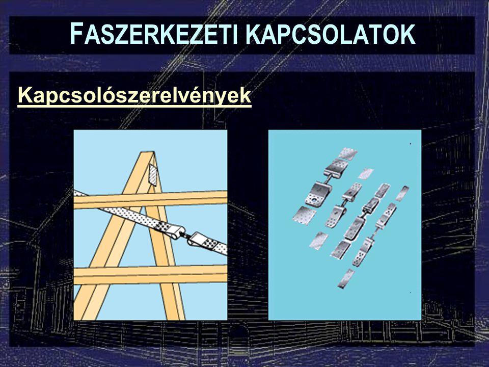Kapcsolószerelvények F ASZERKEZETI KAPCSOLATOK Feszítő csavarok