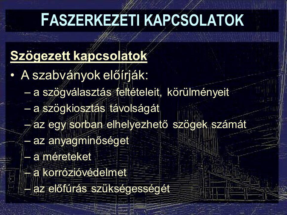 Csavarkötések - Beragasztott csavarkötés F ASZERKEZETI KAPCSOLATOK 10d n  l  20d n
