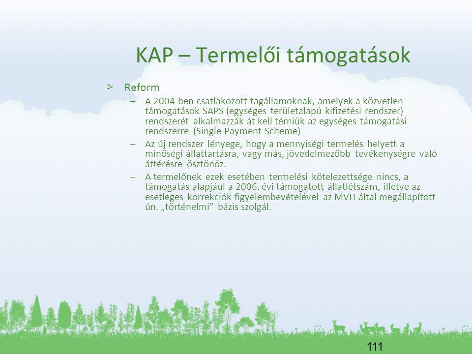 111 KAP – Termelői támogatások > Reform –A 2004-ben csatlakozott tagállamoknak, amelyek a közvetlen támogatások SAPS (egységes területalapú kifizetési