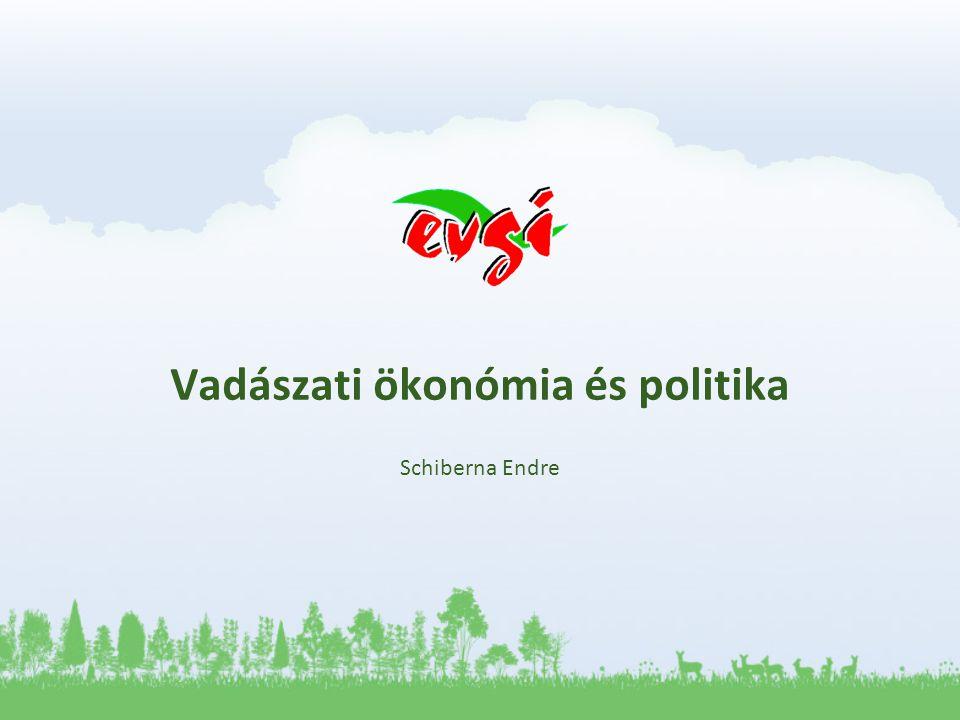 Vadászati ökonómia és politika Schiberna Endre