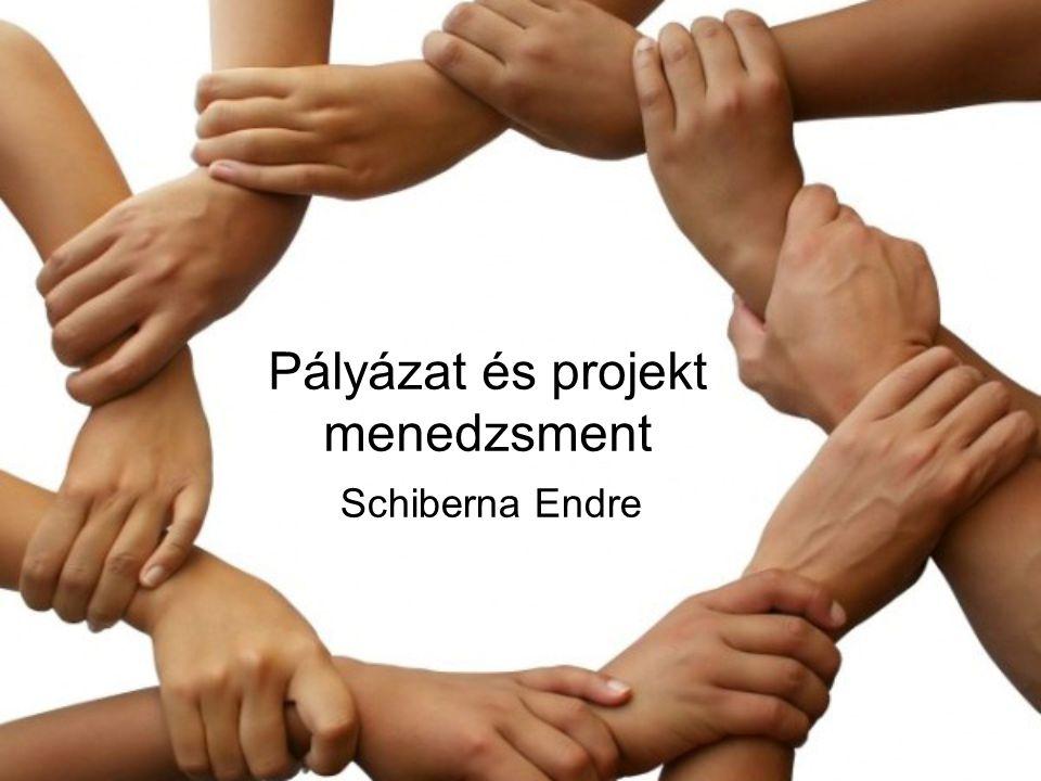 Pályázat és projekt menedzsment Schiberna Endre