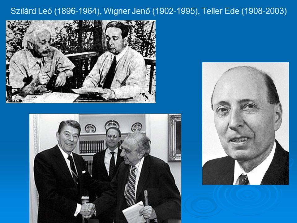 Szilárd Leó (1896-1964), Wigner Jenő (1902-1995), Teller Ede (1908-2003)
