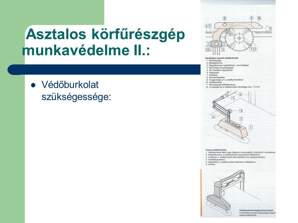 Asztalos körfűrészgép munkavédelme II.: Védőburkolat szükségessége: