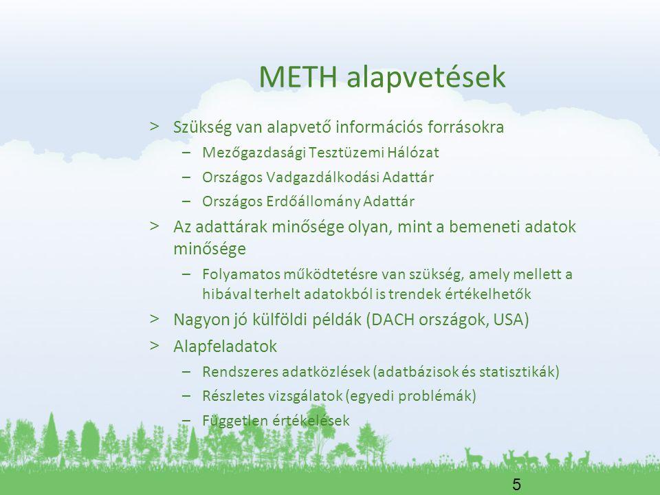 6 METH működés és adatforrások > Elsődleges adatok gyűjtése – Erdőgazdálkodási integrátorok – Erdőgazdálkodók, különösen erdőbirtokossági társulatok > Másodlagos adatfeldolgozás – Országos Erdőállomány Adattár – APEH adatok – Gazdálkodók éves beszámolói (Opten) – KSH > Interjúk készítése