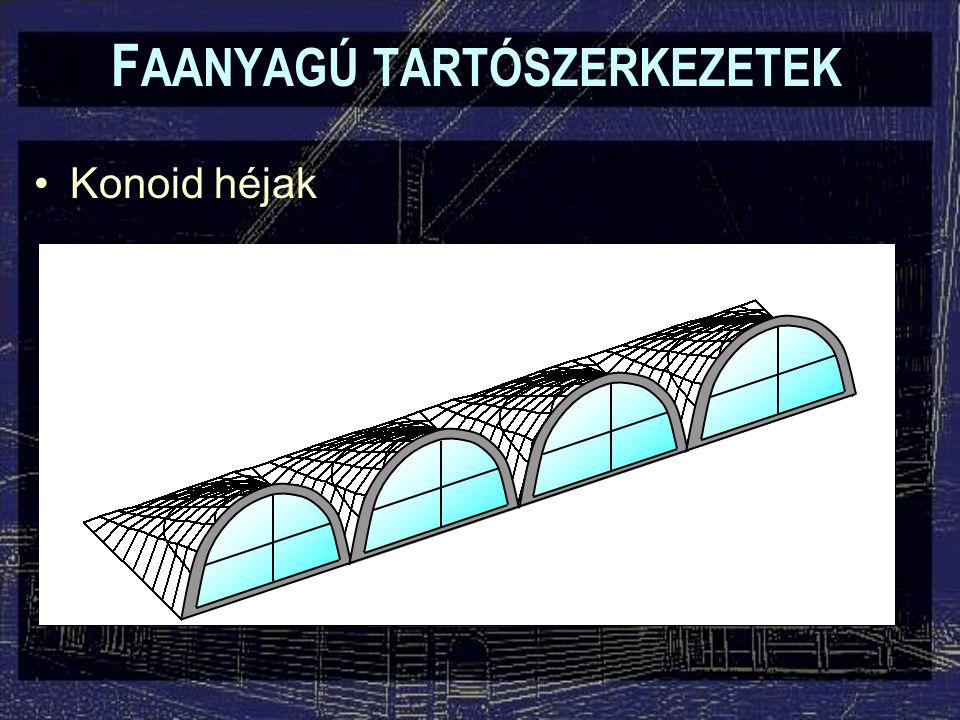 F AANYAGÚ TARTÓSZERKEZETEK Konoid héjak